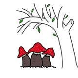 Champignons rouges de poison Photos libres de droits