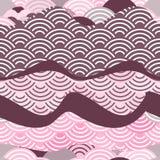 Le poisson sans couture de dragon de modèle mesure le fond simple de nature avec le CCB marron brun foncé de rose de Bourgogne de illustration libre de droits