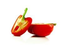 Le poivre de Cayenne d'isolement sur un fond blanc Image stock