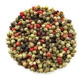 le poivre multicolore injecte entier Images stock