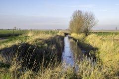 Le polder de Bredene en Belgique Photographie stock