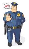 Le policier dit NON illustration de vecteur