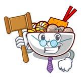 Le polpette del giudice sono servite in ciotola del fumetto royalty illustrazione gratis