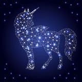 Le polygone de licorne pointille les étoiles 2 photos libres de droits