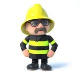 le pompier 3d frappe une pose Images libres de droits