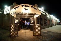 Le poney en pierre Photographie stock