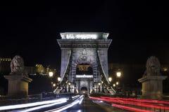 Le pont à chaînes Budapest photographie stock libre de droits