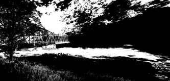 Le pont à l'au-delà illustration libre de droits