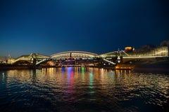 Le pont à Moscou Photos stock