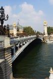 Le Pont Александр 3 в Париже Стоковое Изображение