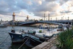 Le Pont Alexandre 3 em Paris Imagem de Stock Royalty Free