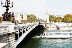 Le Pont Alexandre 3 in Paris Stock Images