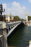 Le Pont Alexandre 3 in Paris Stock Image