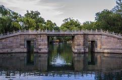 Le pont antique, palais d'été, Pékin Image libre de droits