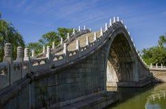 Le pont antique, palais d'été, Pékin Image stock