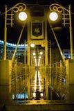 Le pont après la pluie Photos stock
