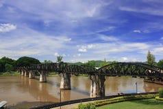 Le pont au-dessus de la rivière Kwai Images libres de droits