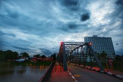 Le pont chez ChiangMai Photo stock