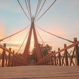 Le pont le coucher du soleil images stock
