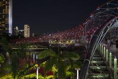 Le pont d'hélice la nuit, officiellement l'hélice images libres de droits
