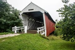 Le pont d'Imes, St Charles, Madison County, Iowa photos stock