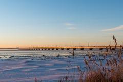 Le pont d'Oland en Suède Photographie stock