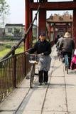 Le pont dans la ville de yuantong dans Sichuan, porcelaine Images libres de droits