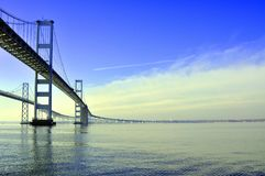 Le pont de baie de chesapeake images libres de droits