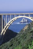 Le pont de Bixby dans Big Sur, la Californie du nord Photo libre de droits