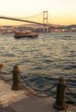 Le pont de Bosphore, Istanbul. Photographie stock libre de droits