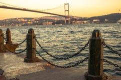 Le pont de Bosphore, Istanbul. Image stock