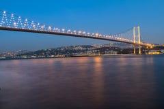Le pont de Bosphore, Istanbul. Images stock