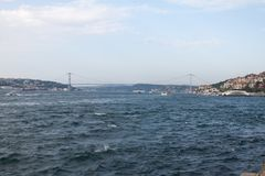 Le pont de Bosphorus, à Istanbul Photos libres de droits