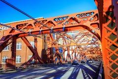 Le pont de Broadway à Portland du centre, OU Photos stock