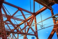 Le pont de Broadway à Portland du centre, OU Photo libre de droits