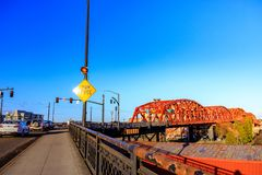 Le pont de Broadway à Portland du centre, OU Photos libres de droits