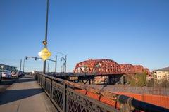 Le pont de Broadway à Portland du centre, OU Photo stock