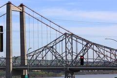 Le pont de Carquinez en Californie du nord Images libres de droits