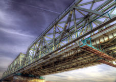 Le pont de chemin de fer images libres de droits