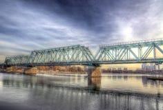 Le pont de chemin de fer image stock