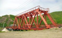 Le pont de chemin de fer. Image stock