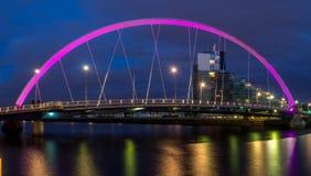 Le pont de Clyde Arc au-dessus de la rivière Clyde Images stock