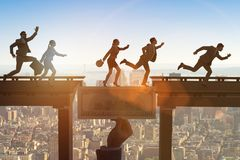 Le pont de croisement du dollar de concept financier Images stock