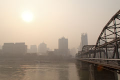 Le pont de la rivière Yellow Images libres de droits