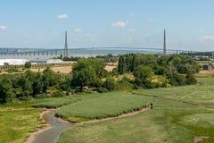Le Pont de Normandie near Le Havre France Royalty Free Stock Image