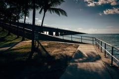 Le pont de sept milles, sur la route d'outre-mer dans le marathon, la Floride image libre de droits