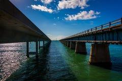 Le pont de sept milles, sur la route d'outre-mer dans le marathon, la Floride photographie stock libre de droits