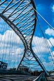 Le pont de Spizzichino en aluminium à Rome Photo libre de droits