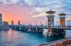 Le pont de Stanley, l'Alexandrie, Egypte images stock