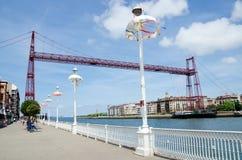 Le pont de transporteur, Getxo Photo libre de droits